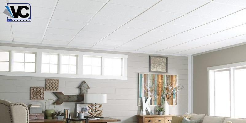 سقف سمنت برد با قابلیت رنگ آمیزی